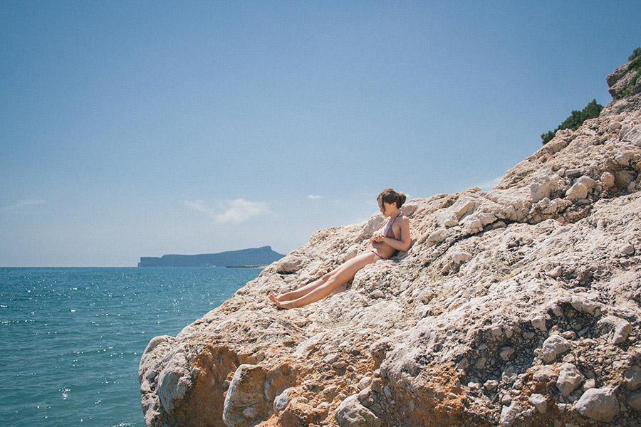 девушка пляж море
