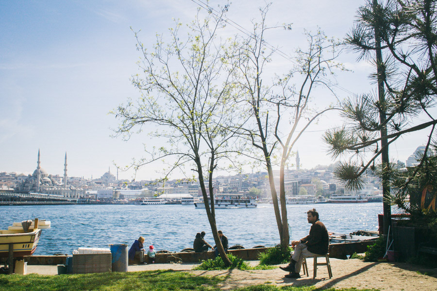 сидящий мужчина в парке