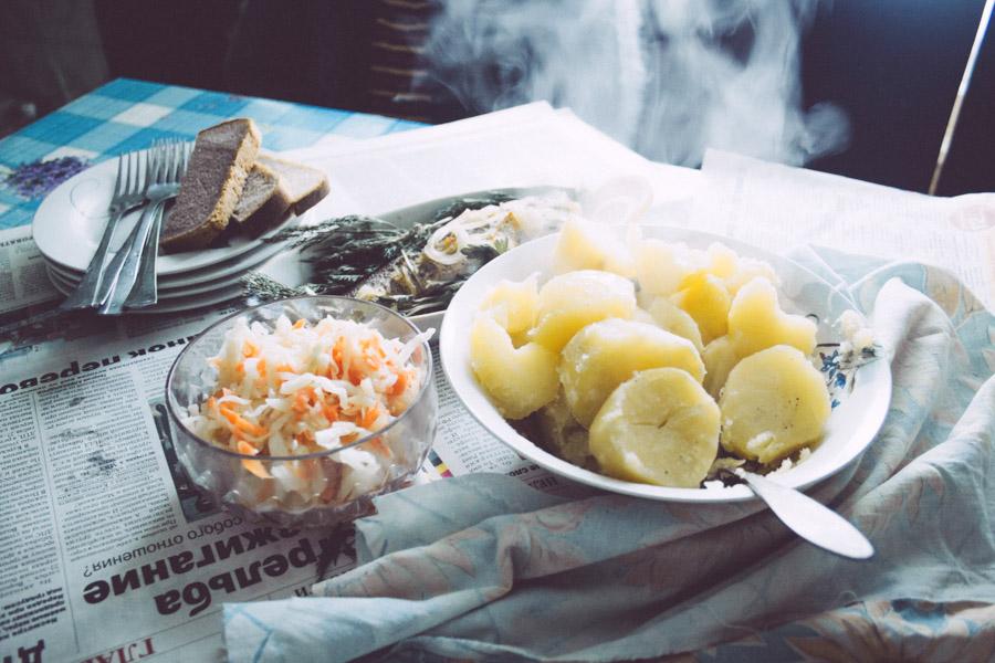 деревенский ужин