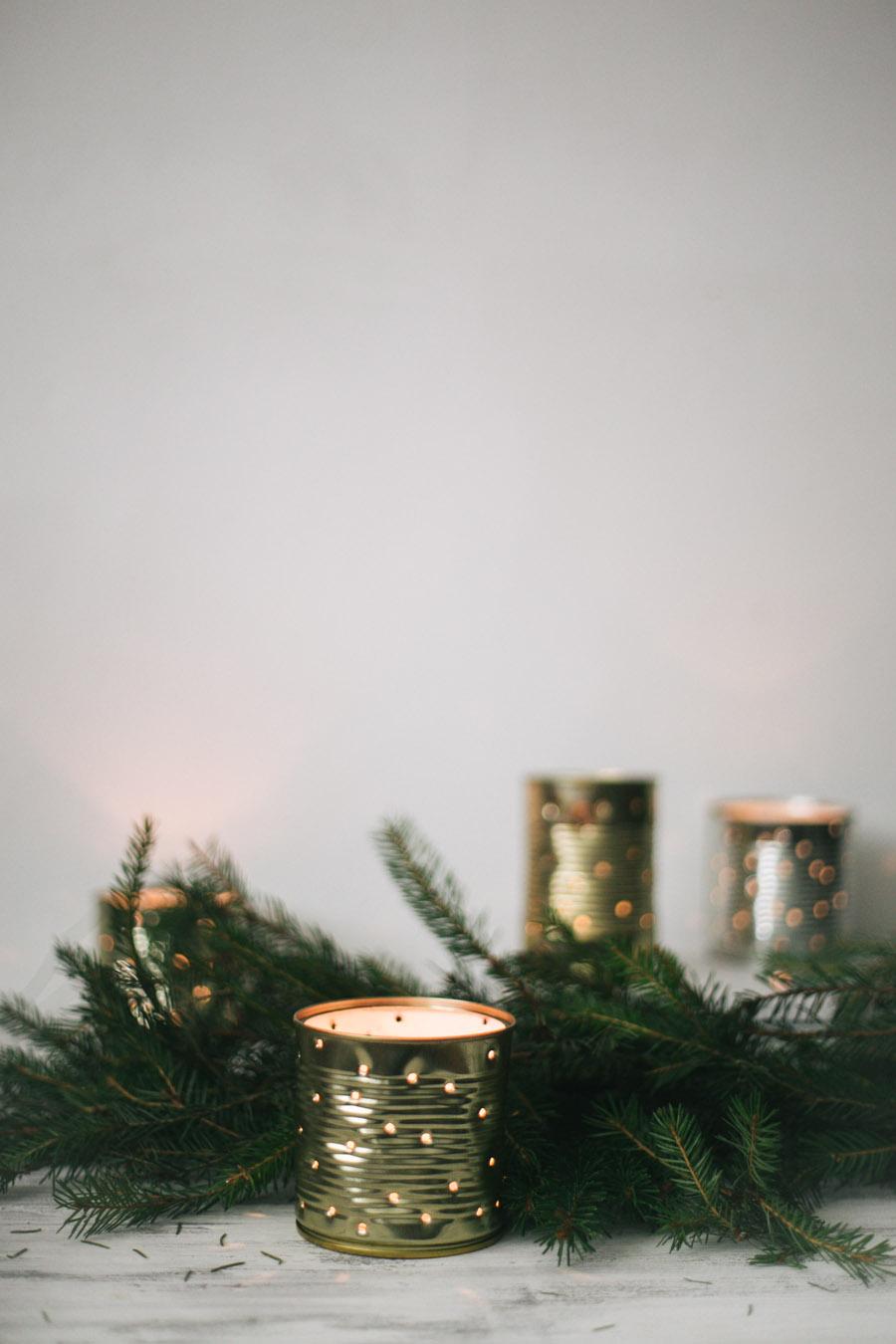 фонарики из консервных банок